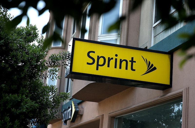 Sprint sign | Justin Sullivan/Getty Images