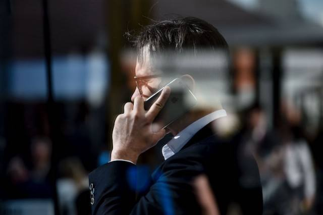 a man talking on his phone