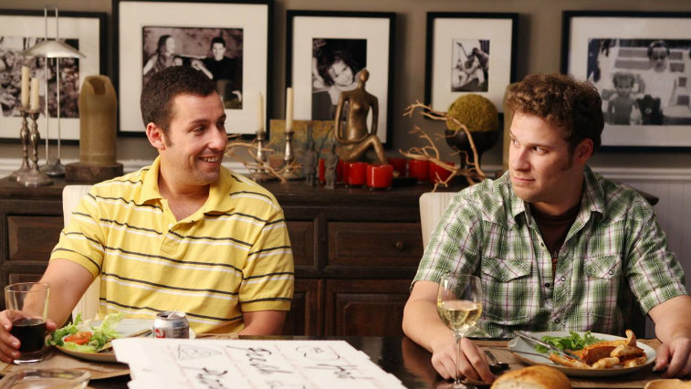 Adam Sandler and Seth Rogen in Funny People