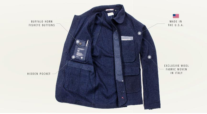 Apolis wool chore jacket