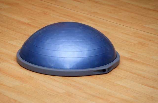 Bosu balls are often used in balance training