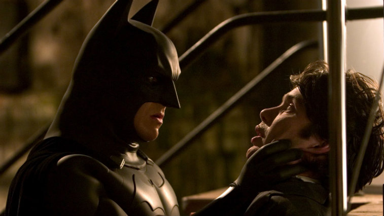 Christian Bale and Cillian Murphy in Batman Begins