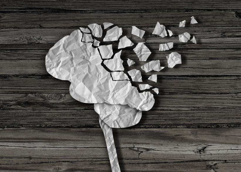 A disintegrating brain