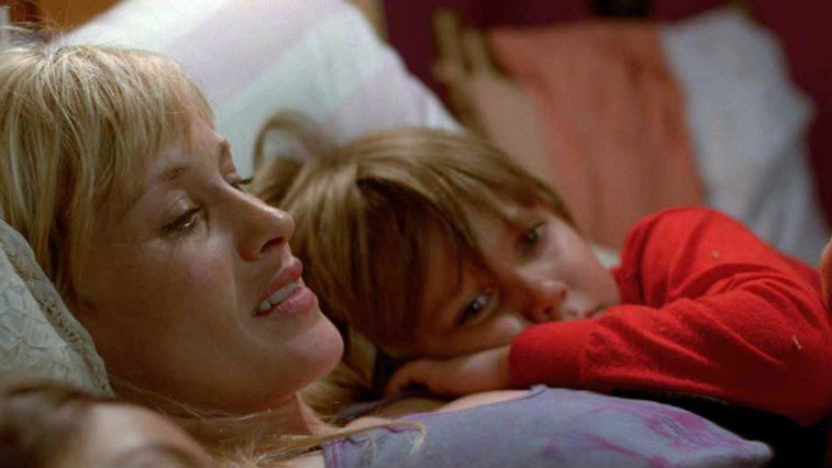 Ellar Coltrane and Patricia Arquette in Boyhood