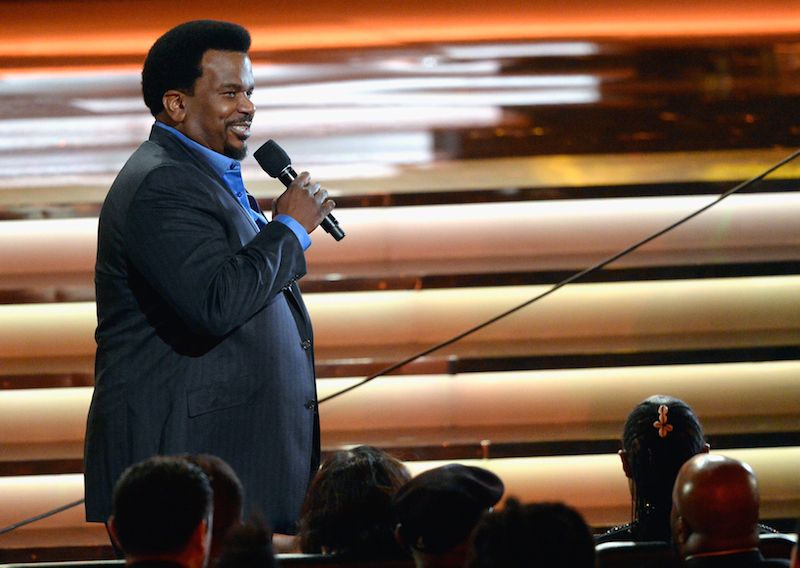 LOS ANGELES, CA - FEBRUARY 10: Actor/comedian Craig Robinson speaks during Stevie Wonder: Songs In The Key Of Life - An All-Star GRAMMY Salute at Nokia Theatre L.A. Live on February 10, 2015 in Los Angeles, California. (Photo by Kevork Djansezian/Getty Images)