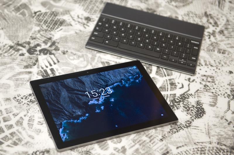 iPad and keyboard