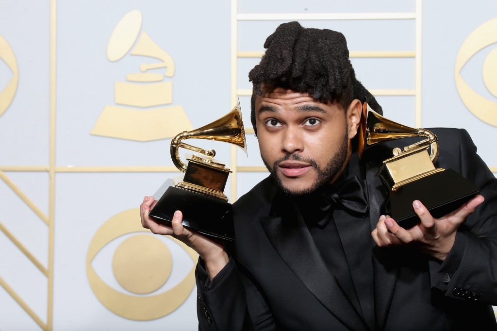 The Weeknd holding awards