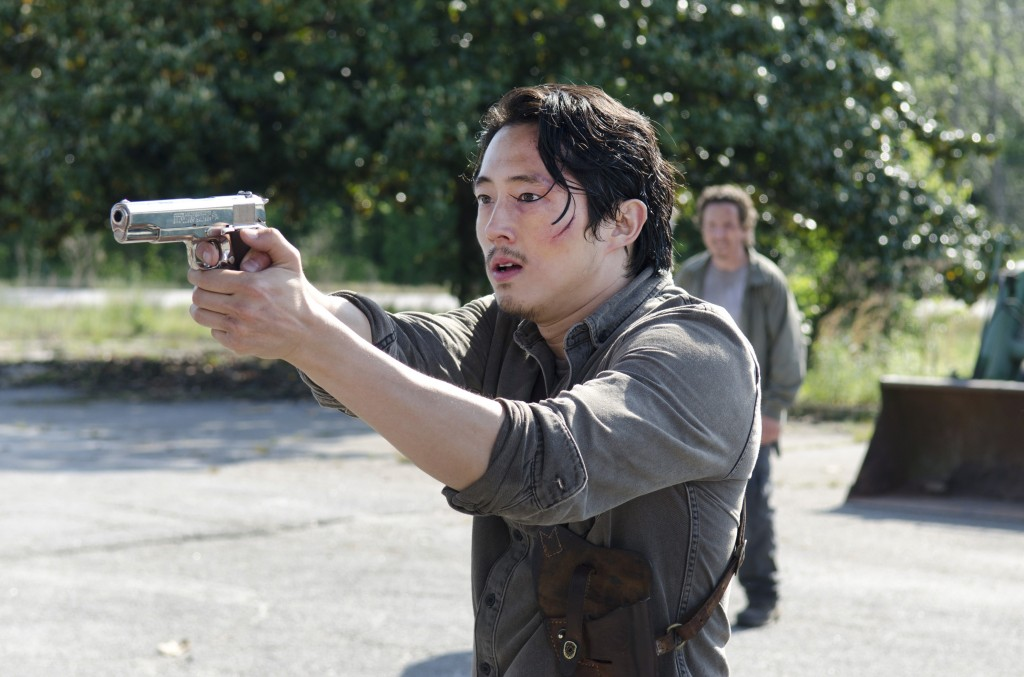 Steven Yeun as Glenn on The Walking Dead