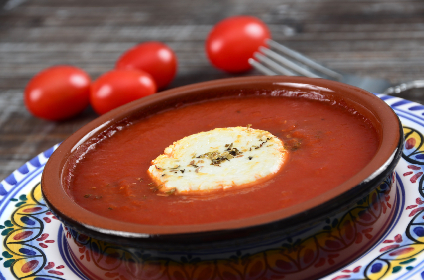 Goat Cheese Baked with tomatoes