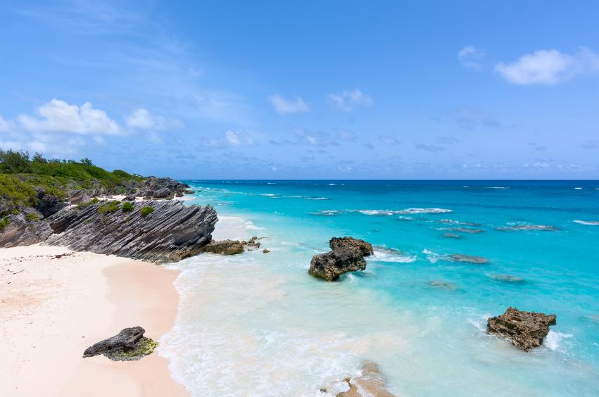 Beach in Horseshoe Bay, Bermuda