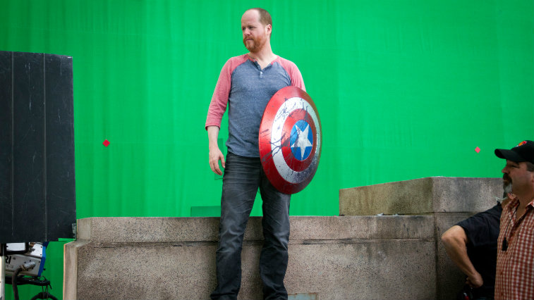 Joss Whedon on The Avengers set