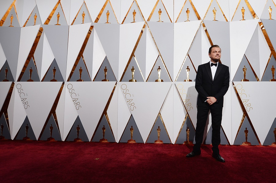 Leonardo DiCaprio on the red carpet