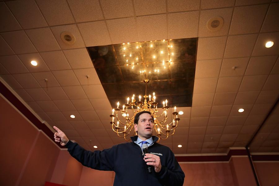 Marco Rubio gives a speech