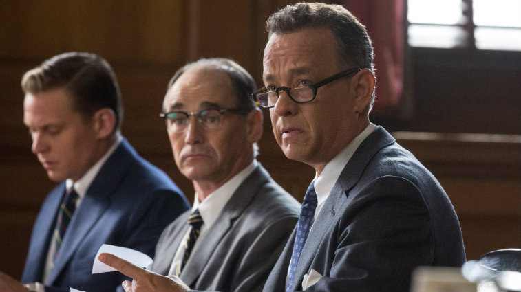 Mark Rylance and Tom Hanks in Bridge of Spies
