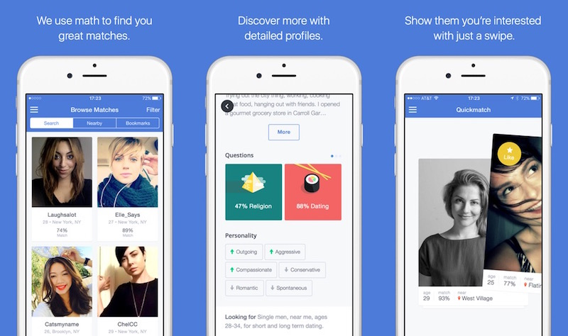 a picture of the OKCupid dating app