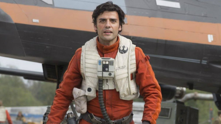 Oscar Isaac in Star Wars: The Force Awakens