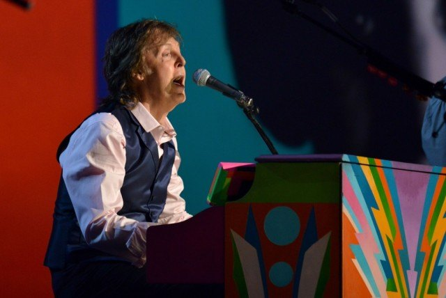 "Paul McCartney performs onstage during ""The Night That Changed America: A GRAMMY Salute To The Beatles"""