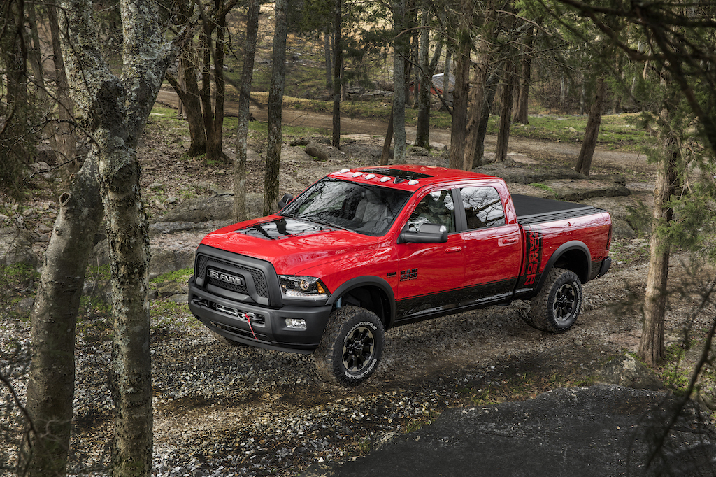 2017 Ram Power Wagon Crew Cab 4x4 driving off road