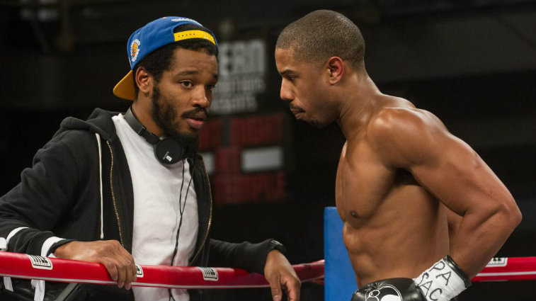 Ryan Coogler and Michael B Jordan on the Creed set