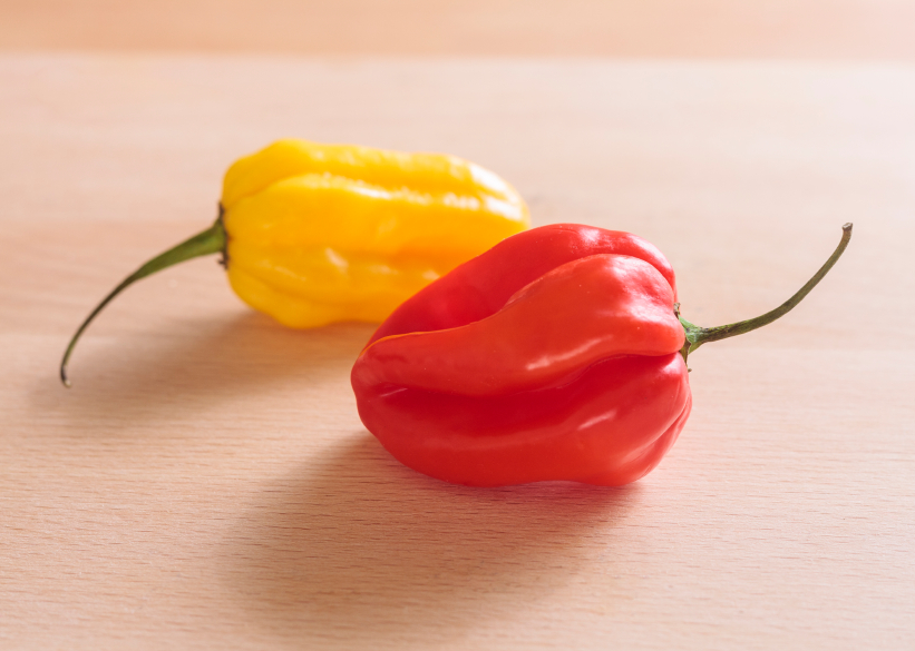 two scotch bonnet chiles