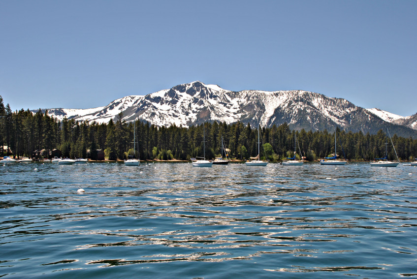 Mountains on back of Late Tahoe