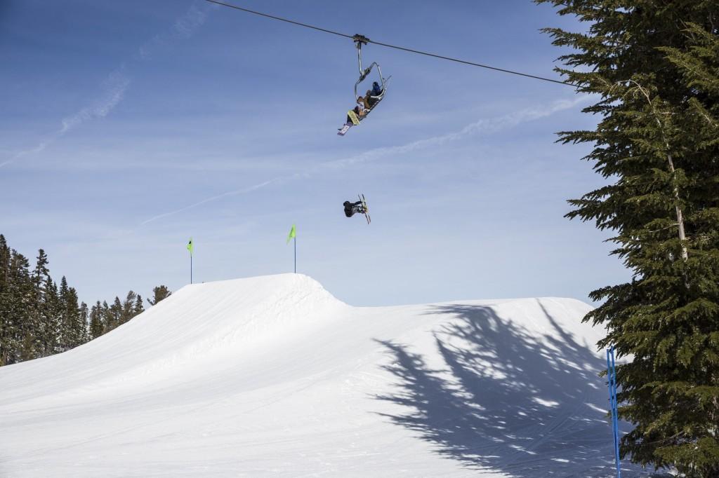 Squaw lift, skier