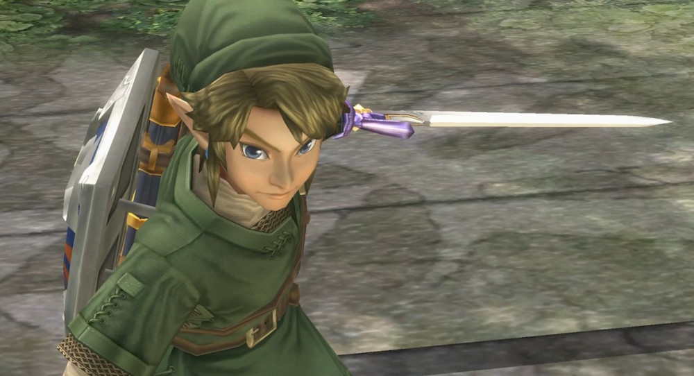 Link wields a sword in this Wii U remaster.