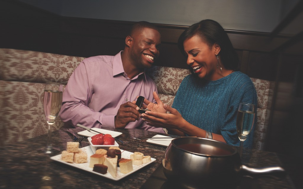 marriage proposal at The Melting Pot
