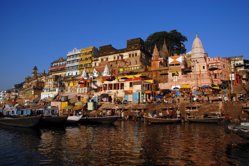 An image of life in Varanasi, India