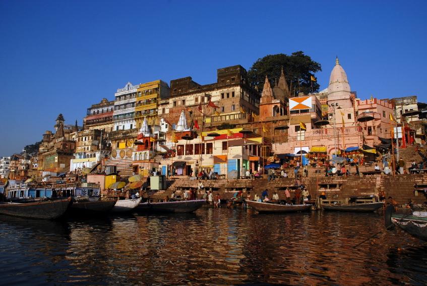 An image of life in Varanasi, India