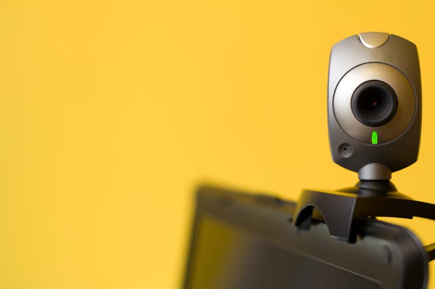 Webcamera on top of laptop screen