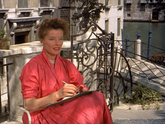 Katherine Hepburn in Summertime