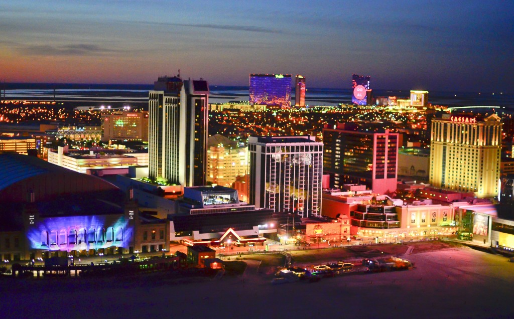 Atlantic City, New Jersey at night