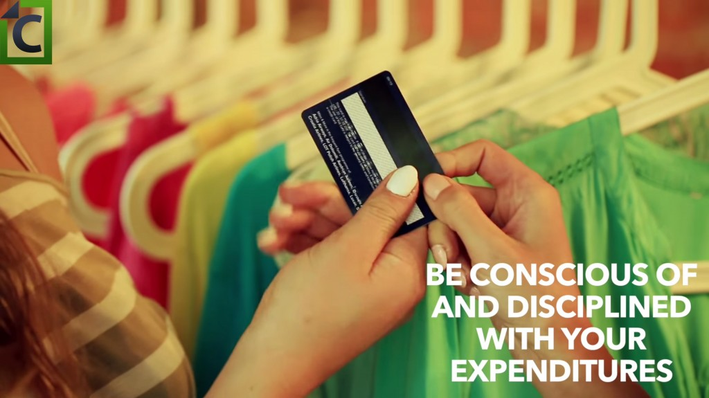 be disciplined with spending