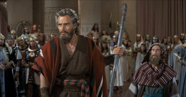Charlton Heston stars as Moses in 'The Ten Commandments'