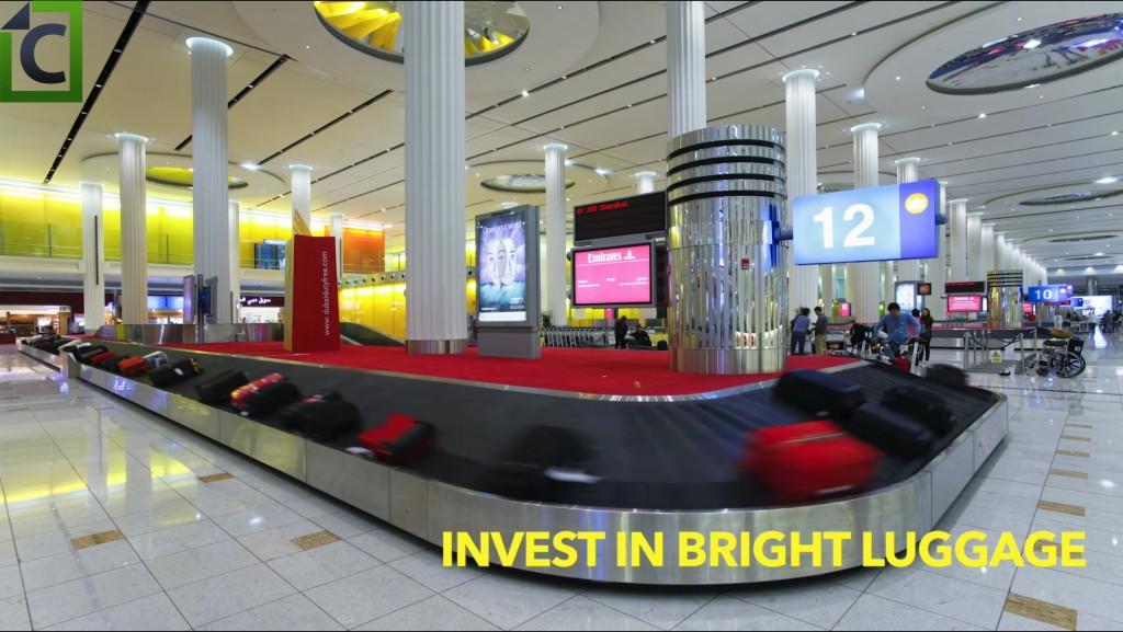 bright luggage