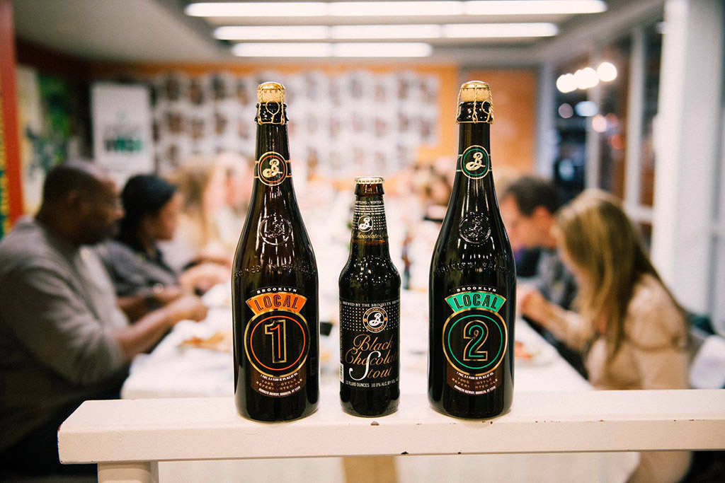 selection of Brooklyn Brewery beers including double chocolate stout