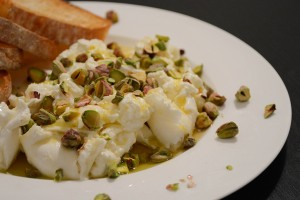A Fancy 5-Minute Snack: Burrata With Pistachio and Lemon