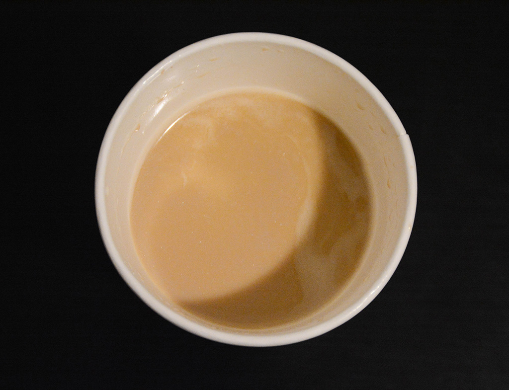 aerial image of a smoked butterscotch latte from starbucks