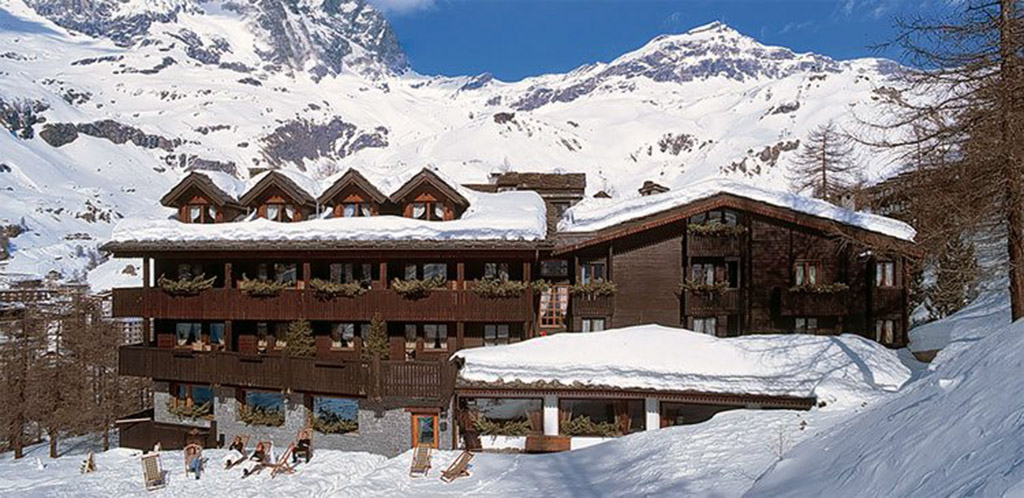 ski area resort in Cervinia, Italy