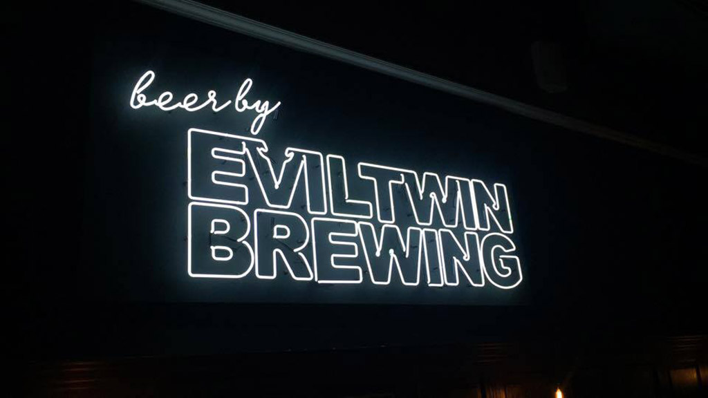 Evil Twin Brewing's light-up sign