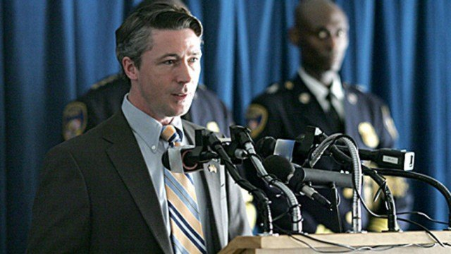 Aiden Gillen as Mayor Tommy Carcetti in HBO's 'The Wire'