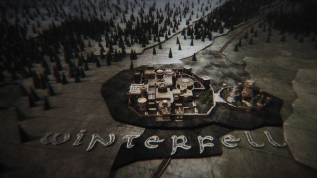 The 'Game of Thrones' title sequence showcasing Winterfell