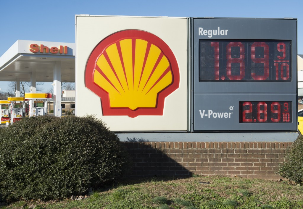 A Shell station with sub-$2 gasoline