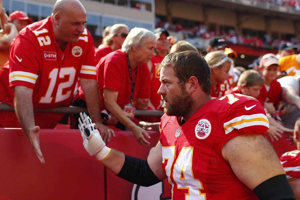Geoff Schwartz after a game with the Kansas City CHiefs