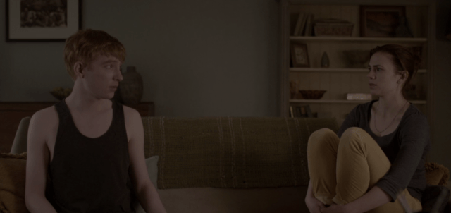 """Domhnall Gleeson and Hayley Atwell in the 'Black Mirror' episode """"Be Right Back"""""""