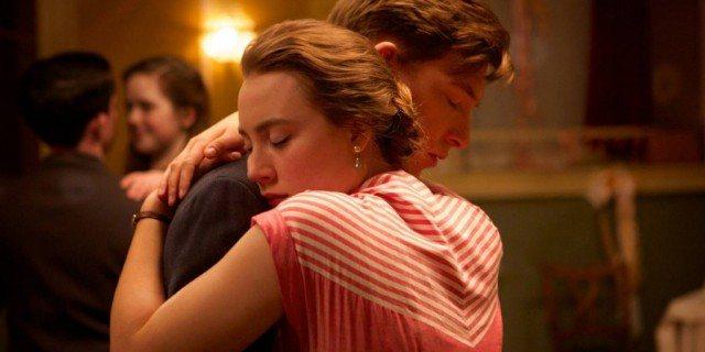 Domhnall Gleeson and Saoirse Ronan in 'Brooklyn'