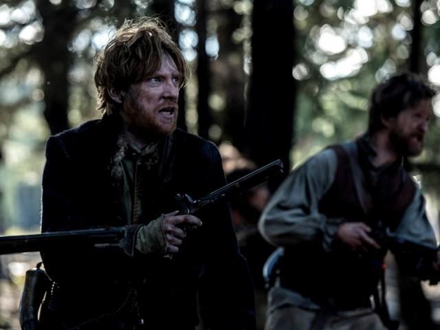 Domhnall Gleeson as Captain Andrew Henry in 'The Revenant'