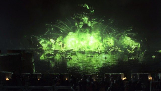 "A stunning scene from the 'Game of Thrones' episode ""Blackwater"""