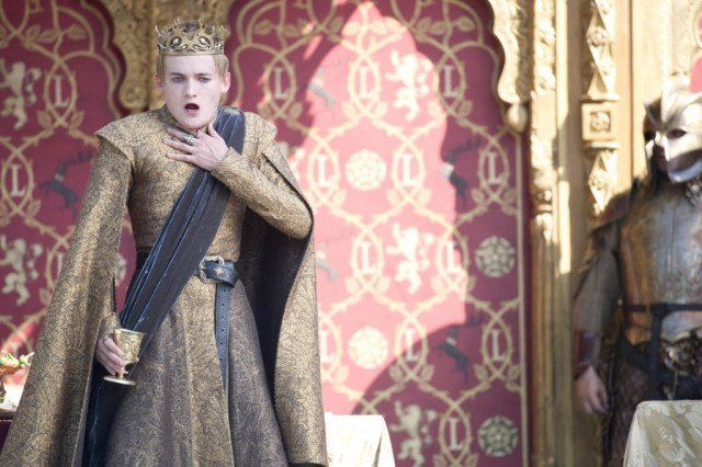 """Joffrey Lannister (Jack Gleeson) in a scene from the 'Game of Thrones' episode """"The Lion and the Rose"""""""
